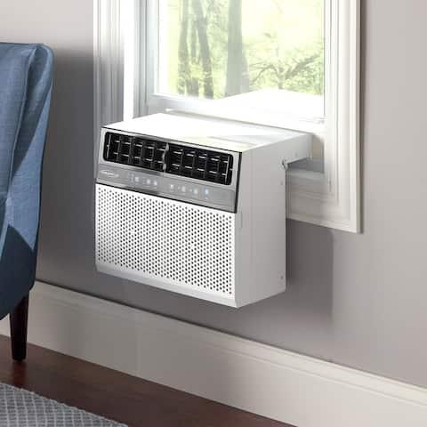 "Soleus Air 6,000 BTU Saddle Air Conditioner w/ MyTemp Remote - 18.7"" X x 28.9"" X x 15"""