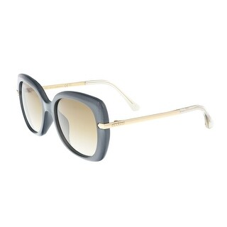 Jimmy Choo Ludi/S 0OOK Gray Rose Gold Square Sunglasses - 53-18-140