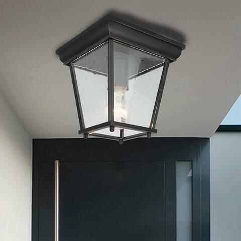 Kerwin 1 Light Outdoor Ceiling Lantern in Imperial Black - Imperial Black
