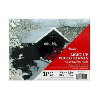 Darice Light Up Canvas LED Winter Truck
