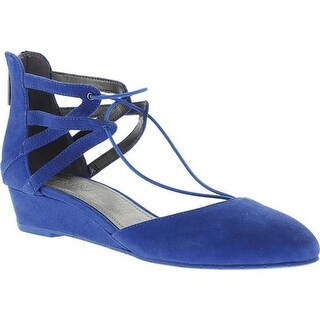 Kenneth Cole Reaction Women's Why Not Ghillie Flat Cobalt Suede