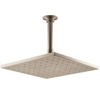 """Kohler K-13696 Contemporary 10"""" Square 2.5 GPM Rainhead with Katalyst Air-Induction Spray Technology"""
