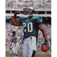 Brian Dawkins signed Philadelphia Eagles 16x20 Photo 20 verticalgreen jerseyflex