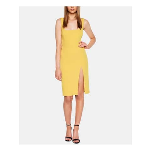 BARDOT Yellow Sleeveless Above The Knee Dress M