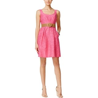 Nine West Womens Casual Dress Burnout Pleated