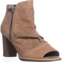 White Mountain Gemini Open Toe Booties, Walnut