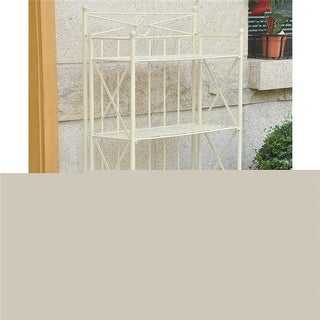 4-Tier Iron Folding Bakers Rack, White - 29 lbs