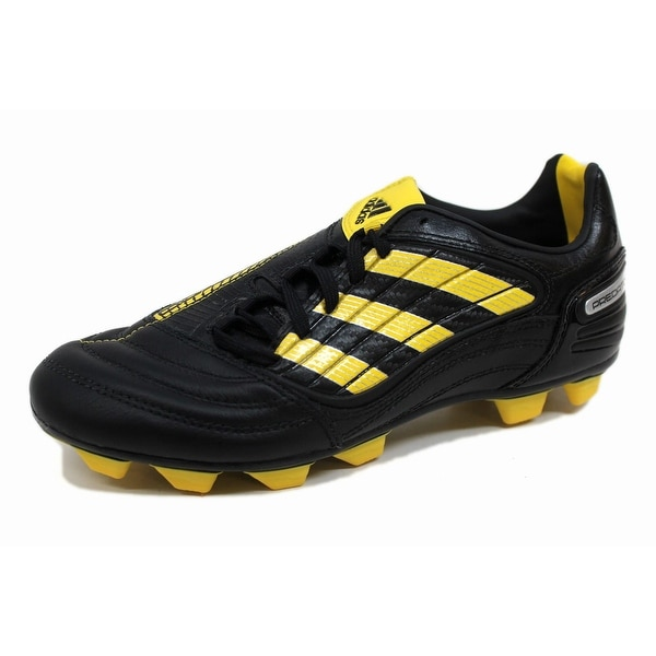 buy popular ebd0a 59ea5 Adidas Grade-School P Absolado X Fg J BlackYellow-Metallic Silver G14222