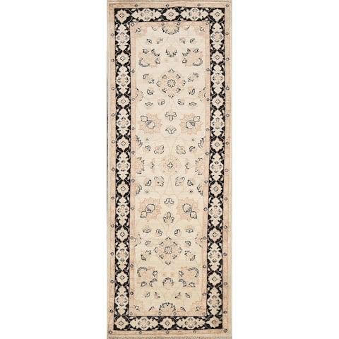 "Vegetable Dye Peshawar Chobi Oriental Runner Rug Wool Handmade Carpet - 2'0"" x 6'0"""