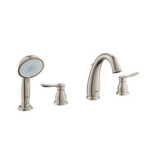 grohe 25 153 parkfield deck mounted roman tub faucet trim with metal lever handles includes