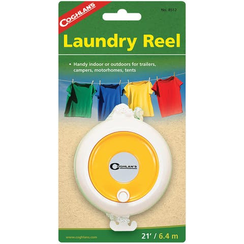 Coghlan's Laundry Reel, 21' Clothesline, Adjustable Nylon Clothes Line