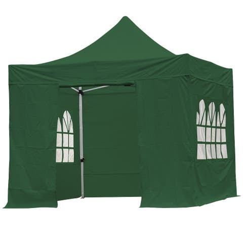 3x3m Pop up Canopy Tent with Sidewalls for Outdoor Patio