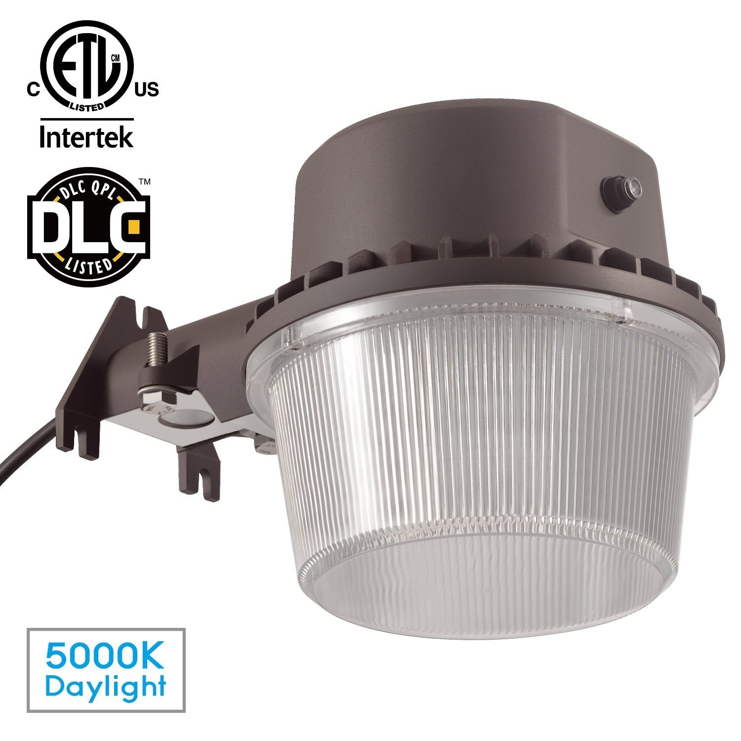 Exterior Security Lighting Basement Dusk to Dawn Barn Light LED Wall Pack Outdoor Light Photocell Included Garage Ultra Bright DLC /& ETL Certified 25W 250W Equiv Garden 2 Pack LEONLITE LHDLCWP-2P25W50 Yard