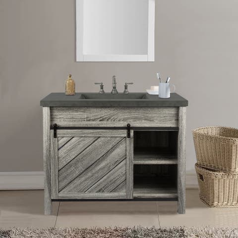 """42"""" Vanity Sink with cement vanity top Bathroom Vanity Set"""