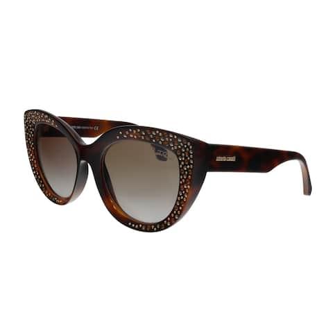 Roberto Cavalli RC1050 53G Chitignano Havana Cat Eye Sunglasses - No Size