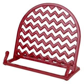 Home Basics Cast Iron Chevron Design Cookbook Stand, 10.5x5.5x9 Inches