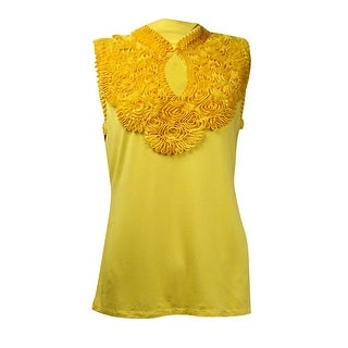 Grace Elements Women's Soutache Keyhole Sleeveless Top