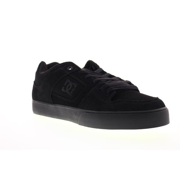 DC Pure Black Yellow Mens Athletic Skate Shoes - Overstock - 31911116