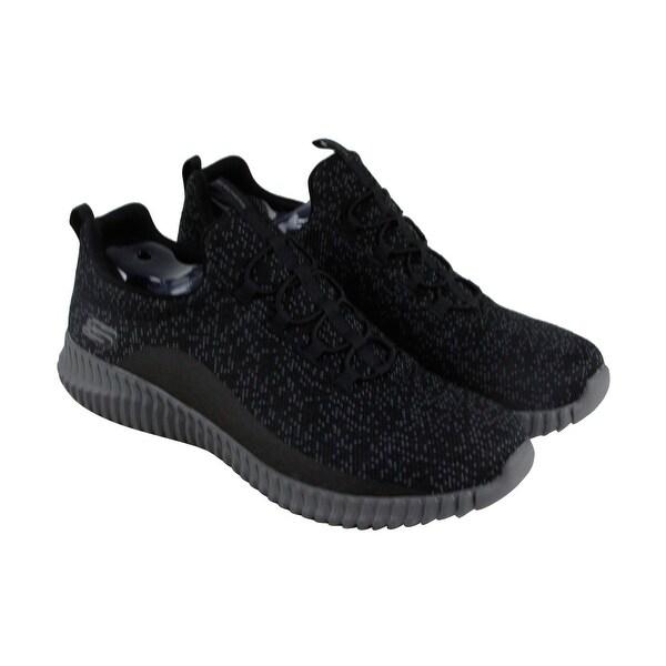 Skechers Elite Flex Muzzin Mens Black Textile Athletic Slip On Training Shoes