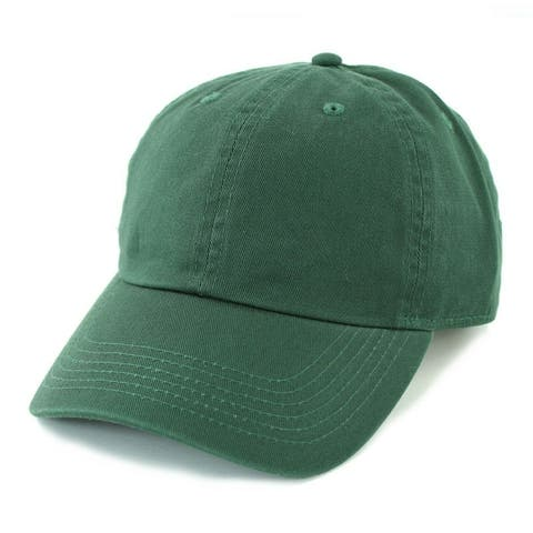 Newhattan Plain Cotton Hat Men Women Adjustable Baseball Cap