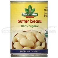 Bioitalia Organic Beans - Butter Beans - Case of 12 - 14 oz.