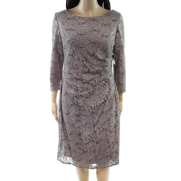 5f29e2b25de6a Shop Jessica Howard NEW Beige Womens Size 12P Petite Sequin Sheath ...