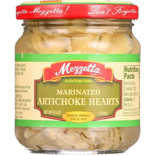 Mezzetta Artichoke Hearts - Marinated - Imported - 6.5 oz - case of 12