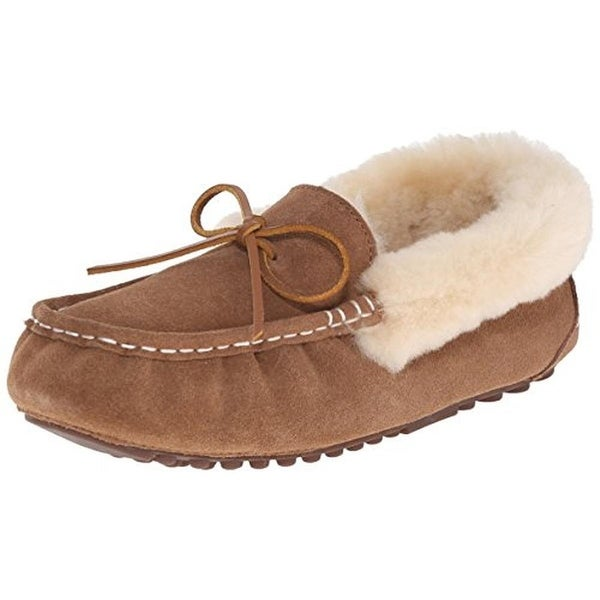 Pajar Womens India Moccasin Slippers Suede Faux Fur