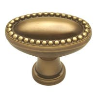 "Keeler P47 Savannah 1-3/8"" Long Oval Cabinet Knob - Sherwood Antique Brass - N/A"