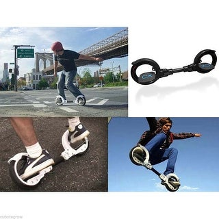 Aluminum Dual 2 Wheel Skatecycle Self-Propelled Hubless Scooter Board Balance US - Black