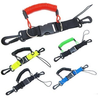 Scuba Diving Dive Snappy Coil Camera Lanyard & Quick Release Buckle, 1.3M Coil