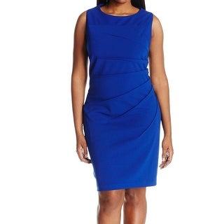 Calvin Klein Blue Women's Size 22W Plus Sunburst Sheath Dress