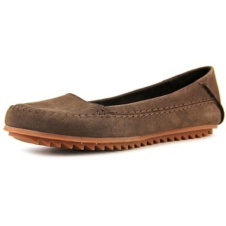 Hush Puppies Thora Create Round Toe Leather Flats
