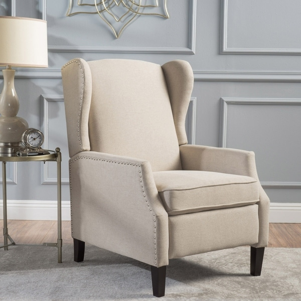 Wescott Contemporary Fabric Wingback Pushback Recliner by Christopher Knight Home. Opens flyout.