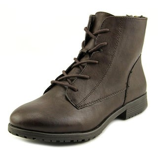Style & Co Qwinn Round Toe Leather Ankle Boot