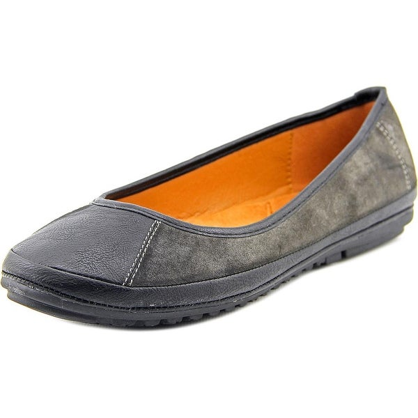 Patrizia By Spring Step Yang Women Round Toe Synthetic Black Flats
