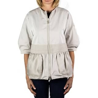 Moncler Gamme Rouge Zip-up 3/4 Sleeve Blouse Jacket Off-White Women's|https://ak1.ostkcdn.com/images/products/is/images/direct/4dad32368b21436cf7a68c47c783821ec0119d23/Moncler-Gamme-Rouge-Zip-up-3-4-Sleeve-Blouse-Jacket-Off-White-Women%27s.jpg?impolicy=medium