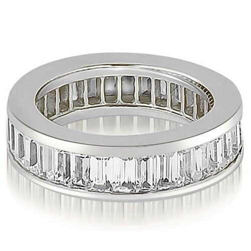 3.00 cttw. 14K White Gold Baguette Diamond Eternity Ring