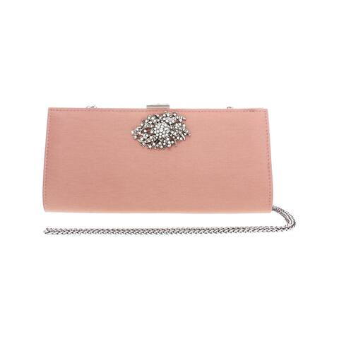 Adrianna Papell Womens Stacee Evening Clutch Satin Jewel - Small