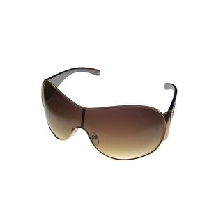 Esprit Womens Sunglass 19316 532 Gold Brown Metal Shield, Brown Gradient Lens - Medium