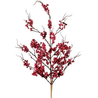 12 Red & Burgundy Artificial Berry Christmas Wedding Floral Sprays 28""