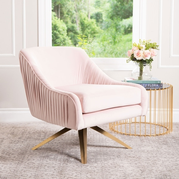 Abbyson Giana Glam Velvet Swivel Chair. Opens flyout.