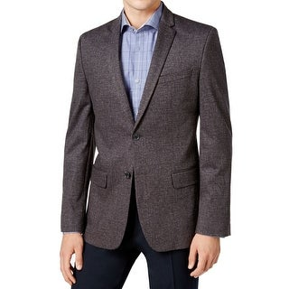 Calvin Klein NEW Charcoal Gray Mens Size XL Two Button Knit Sport Coat