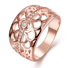 Circular Rose Gold Laser Cut Inprint Ring