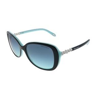 Link to Tiffany & Co.  TF 4121B 80559S Womens Black on Light Blue Frame Blue Gradient Lens Sunglasses Similar Items in Women's Sunglasses