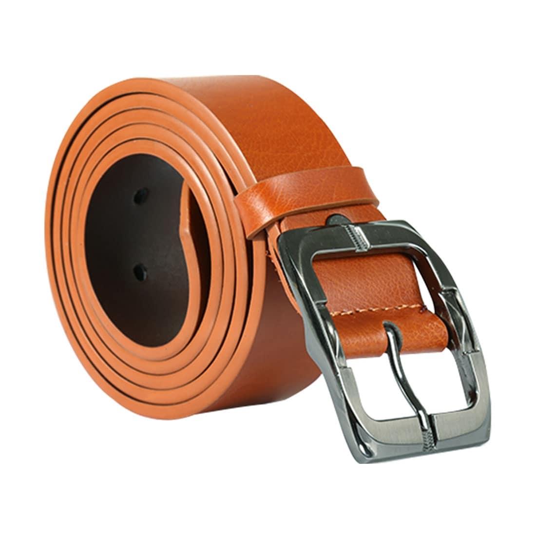 "Men Dress Belt Stitched Perfect Fit Single Pin Buckle 1 1//2/"""