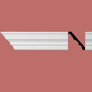 Simple White Urethane Foam Cornice Covington 5inch| Renovator's Supply