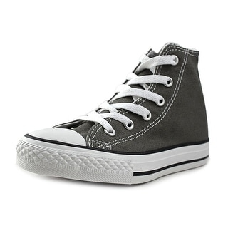 Converse Chuck Taylor All Star Seasonal HI Youth Round Toe Canvas Gray Sneakers