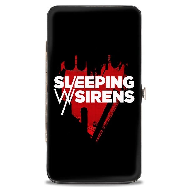 Sleeping With Sirens Heart Black Red White Hinged Wallet - One Size Fits most