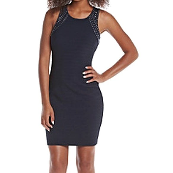 296e7e1675cee Guess NEW Midnight Blue Womens Size 6 Studded Stretch Bodycon Dress